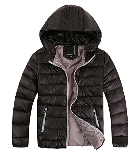 Chic Down Outwear Black Hooded Winter Lightwear Boys Kids Jacket Coat Lemonkids® tqRgPg