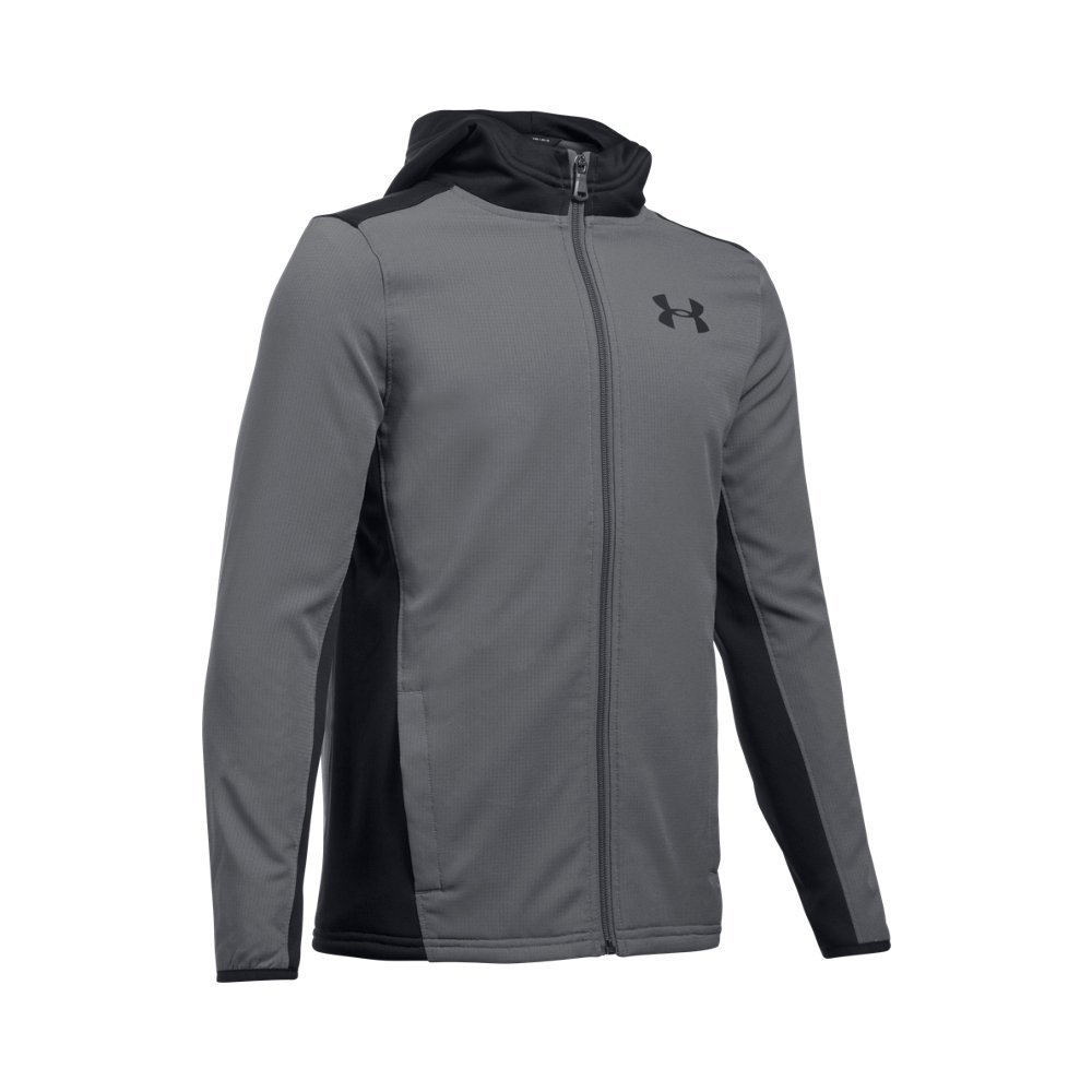 Under Armour Boys' Construkt ColdGear Reactor Hoodie,Graphite (040)/Black, Youth Large