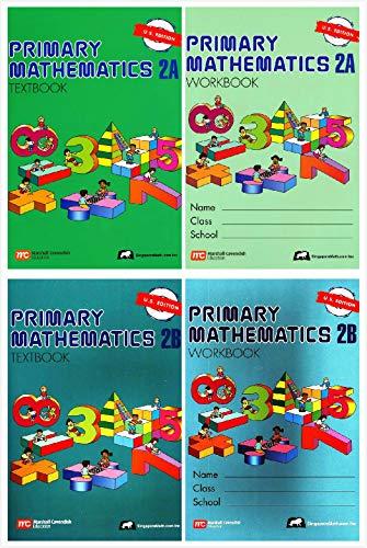 Singapore Primary Mathematics Grade 2 Kit (4 Books) - Textbooks 2A and 2B, Workbooks 2A and 2B (US ()