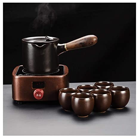 AYHa Tetera eléctrica cerámica juego de té, té de prensa ...