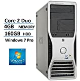 2017 Dell PRECISION 390 MiniTower (MT) High Performance Business Desktop Computer, Intel Core 2 Duo Processor, 4GB RAM, 160GB HDD, DVD, Windows 7 Professional 64 Bit (Certified Refurbished)