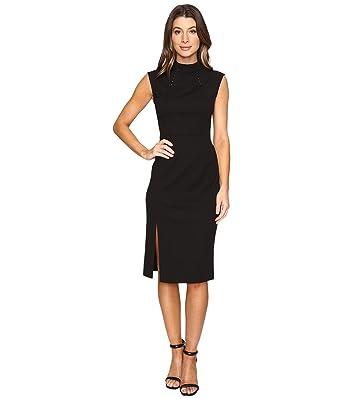 df418640bc2eee Ivanka Trump Women s Midi Length Scuba Crepe Dress With Hardware Black 2