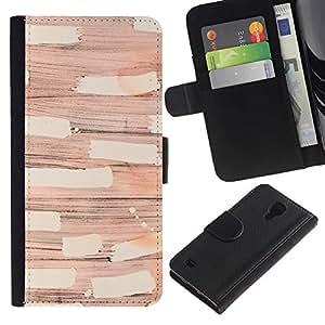 APlus Cases // Samsung Galaxy S4 IV I9500 // Papel de pared moderno arte abstracto Diseño // Cuero PU Delgado caso Billetera cubierta Shell Armor Funda Case Cover Wallet Credit Card