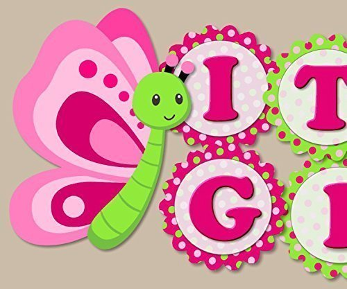 Butterfly Baby Shower Decoration Supplies For Girl   U0026quot;ITu0027S A  GIRLu0026quot; Baby Shower