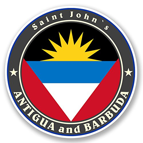 2 x Antigua and Barbuda Vinyl Stickers