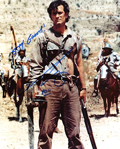 Campbell Autographed Photo - Bruce Campbell Signed / Autographed 8x10 glossy Photo as Ash from Army of Darkness and Evil dead. Includes Fanexpo Fanexpo Certificate of Authenticity and Proof of signing. Entertainment Autograph Original.