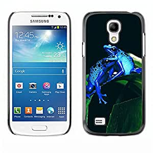 Omega Case Strong & Slim Polycarbonate Cover - Samsung Galaxy S4 MINI ( Cool Neon Blue Jungle Frogs )