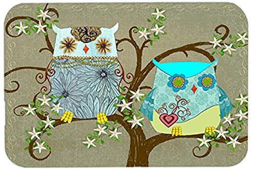 Carolines Treasures PJC1094LCB The Friendly Ladies Owl Glass Cutting Board Multicolor Large