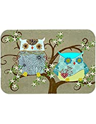 Caroline S Treasures PJC1094LCB The Friendly Ladies Owl Glass Cutting Board Large Multicolor