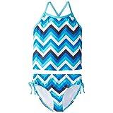 Kanu Surf Big Girls' Olivia Tankini Swimsuit, Blue, 10