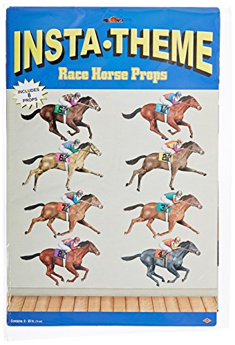 Beistle 52087 Printed Race Horse Props, 29
