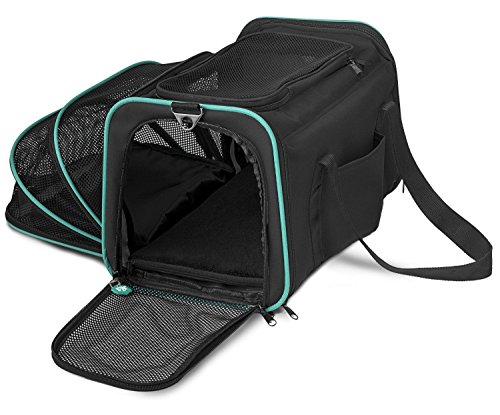 Cheap Pawdle Expandable and Foldable Pet Carrier Domestic Airline Approved (Black)