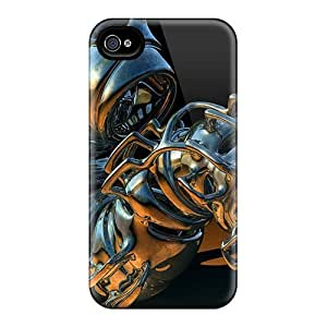Iphone 4/4s QEL8895riRK 3d Abstract Tpu Silicone Gel Cases Covers. Fits Iphone 4/4s