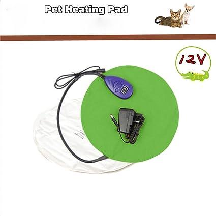 xueyan& Calefacción almohadilla para mascotas almohadilla impermeable termostato anti-mordedura fiebre perro 12V manta eléctrica