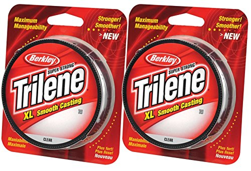 (Berkley Trilene XL Smooth Casting Monofilament Service Spools 2 Packs (Clear, 110 Yd, pound test 20 (2 Pack)))
