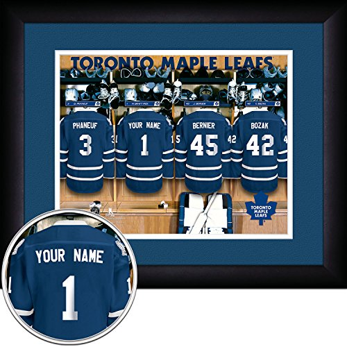 Leafs Maple Toronto Room Locker (Photo File Toronto Maple Leafs Locker Room Jersey Frame Print, 15