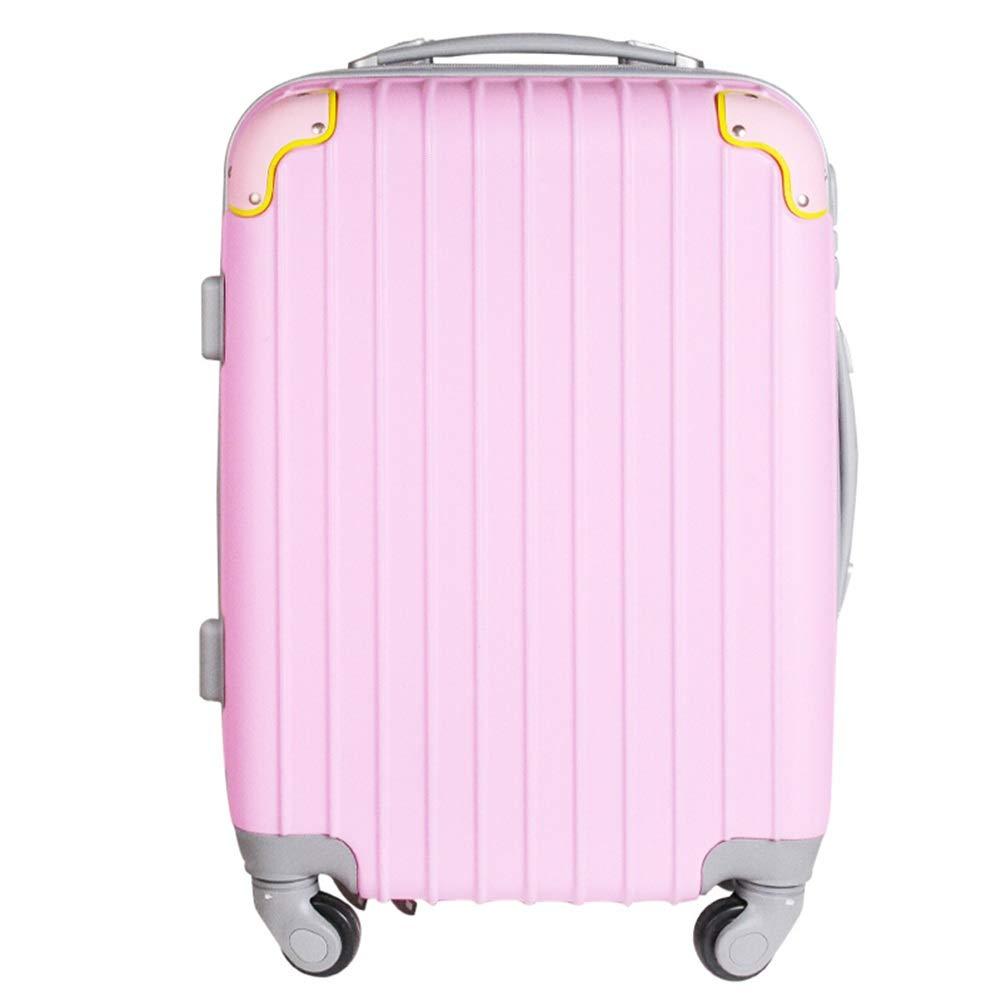 Z&YY トロリー スーツケース スーツケース パスワードボックス ファッション クラシック ストライプ スーツケース 女性 スーツケース 男性 ボーディング シャーシ (20/24インチ) 20 inches ピンク Z&YY 20 inches ピンク B07L92XMGM