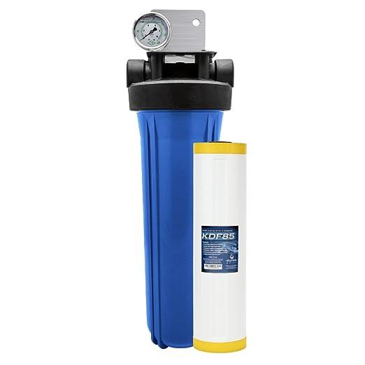 Express agua toda la casa filtro de agua sistema 1 etapa KDF anti cloramina + Catalizador carbono filtración 4.5
