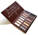 Image of Best Pro Eyeshadow Palette Makeup - Matte + Shimmer 16 Colors - Highly Pigmented - Professional Nudes Warm Natural Bronze Neutral Smoky Cosmetic Eye Shadows - Lamora Au Naturel