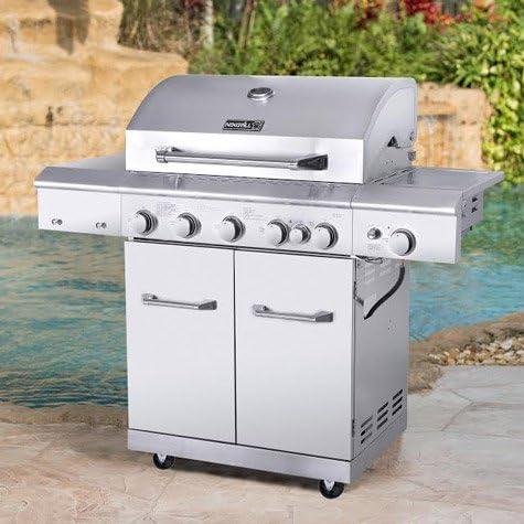 Nexgrill 6 quemador de acero inoxidable para Gas barbacoa + Rotisserie + ideal para barbacoa de verano