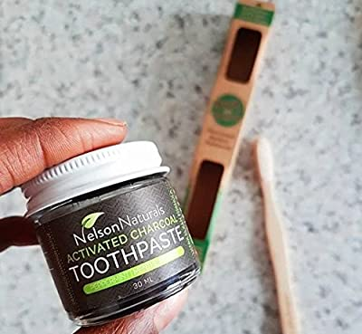 Nelson Naturals Activated Charcoal Toothpaste 1 oz - Peppermint