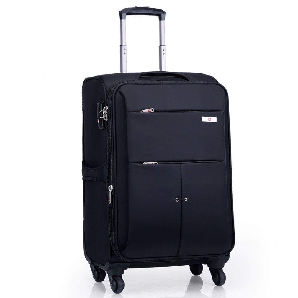 トロリーケースオックスフォード布ユニバーサルホイールスーツケースユニセックスビジネススーツケース20インチ、24インチ、28インチ(FM),B,24inches B07SQTYNH3 B 24inches