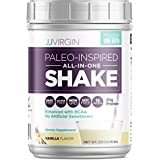 JJ Virgin Vanilla Paleo-Inspired All-in-One Shake - Paleo & Keto-Friendly Protein Powder, 15 Serving