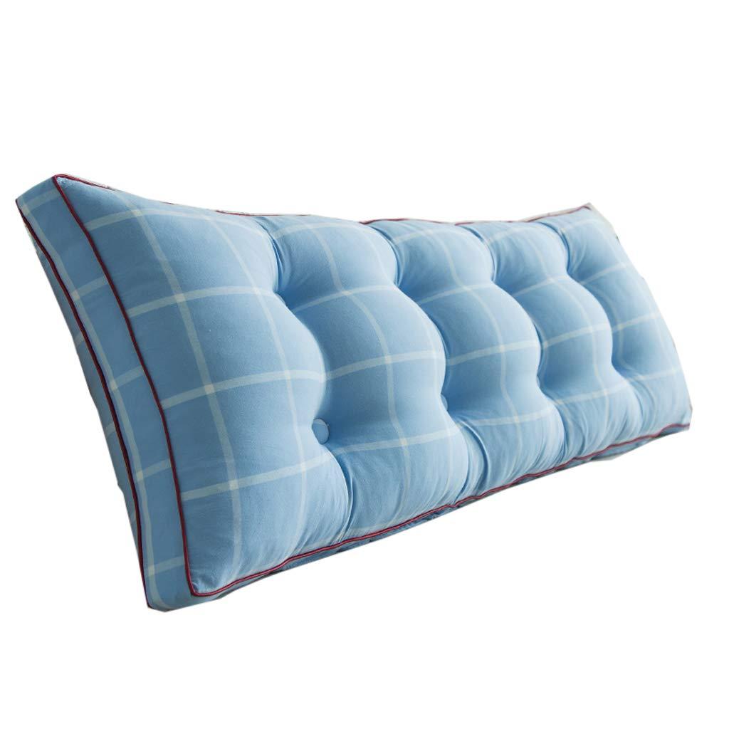 GXY Cotton Tatami Bett Softpack Bett Doppel Lange Kissen Kissen (Farbe : Blau, größe : 120 * 50 * 20cm)