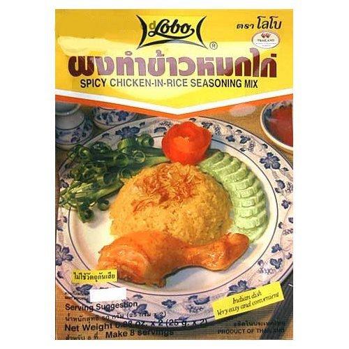 Lobo Brand Thai Spicy Chicken in Rice Seasoning 1.76 Oz X 5 by Lobo