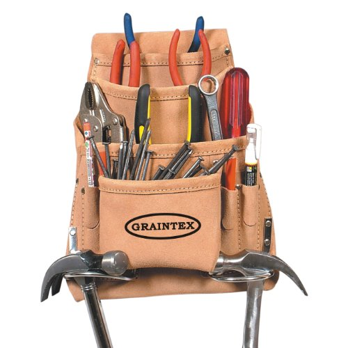 Graintex PL44S 10-Pocket Nail and Tool Pouch by Bostonindustrial