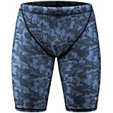 KGKE Men's Swim Jammers by Compression Fashion Print Jammer Swimsuit Swim Boxer Long