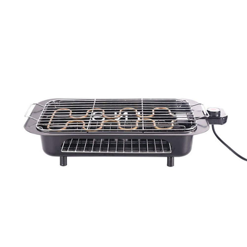 xhope Double Layer Electric Indoor Grill & Searing Grill with Removable Nonstick Plates,Electric BBQ Grill Barbecue Oven Roasting Pan Temperature Control for Indoor/Outdoor Camp (Baking Net)
