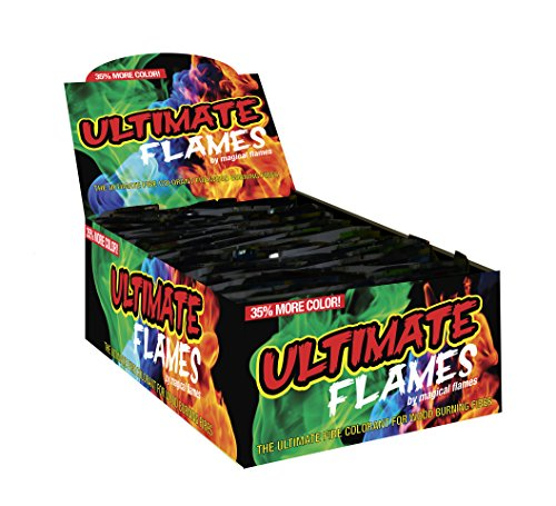 Ultimate Flames - Pack of 25 - 35% More Color - Magic Flames - Colored Flames - Long Lasting Campfire Flames - Wood Burning - Brilliant Colors - Safe Fire Colorant - No Mess - Indoor and Outdoor Use