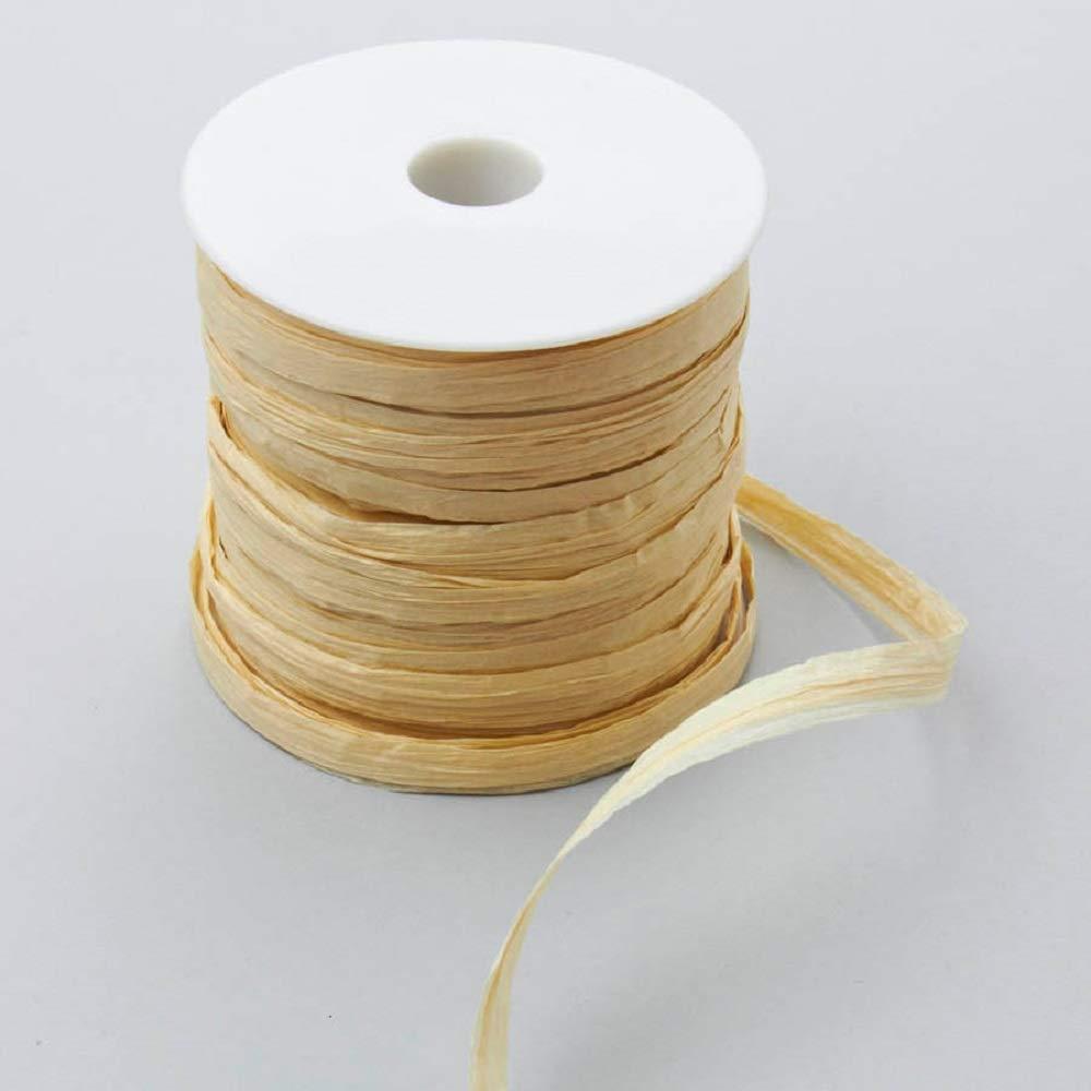 Raffia Ribbon - Wheat - 12 Rolls by Event Decor Direct