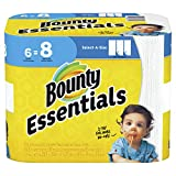 Bounty Essentials Paper Towels, Select-A-Size, White, 6 Big Rolls (Equal to 8 Regular Rolls)