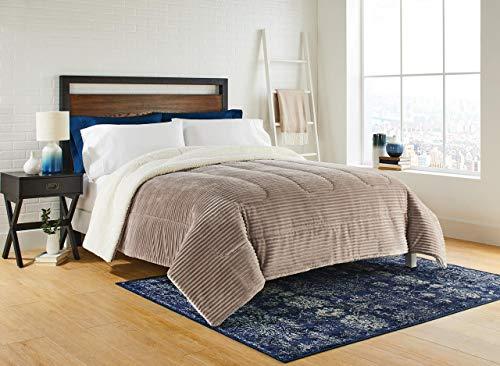 - Idea Nouva Taupe Splash Comforter Set, King, Brown