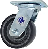 RWM Casters 47 Series Plate Caster, Swivel, Kingpinless, Urethane on Iron Wheel