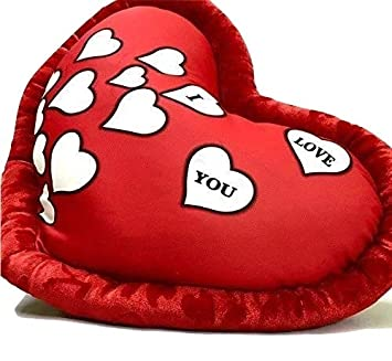First Date Store Komal Store Huggable Heart Shape Soft Plush Stuffed Cushion Pillow Toy (Red)