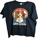 Marvel Agent Carter I Know My Value Mens T-Shirt Blue Large
