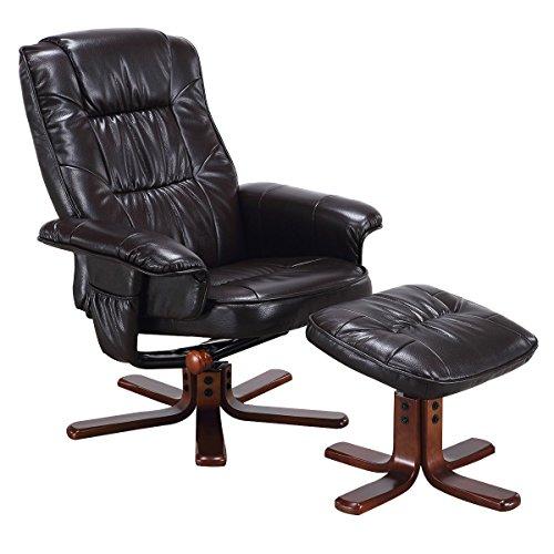 Giantex Leisure Recliner Armchair Footstool