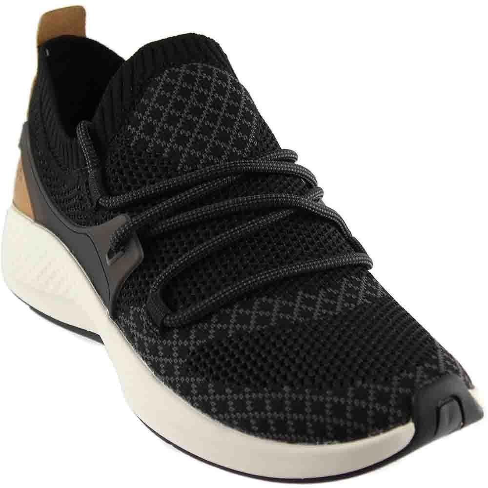Timberland Womens FlyRoam Go Knit Chukka Black Sneaker - 6.5