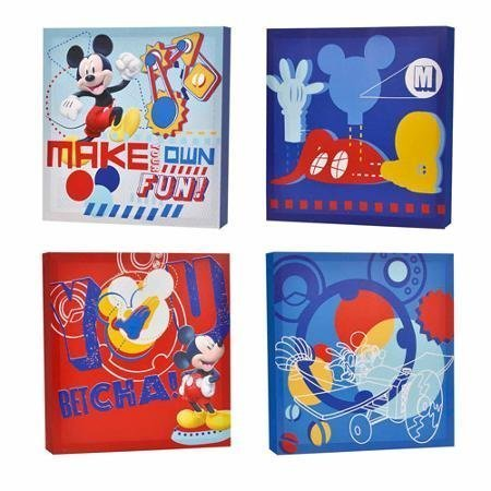Disney Mickey Mouse Canvas - Disney Mickey Mouse 4-Pack Canvas Wall Art