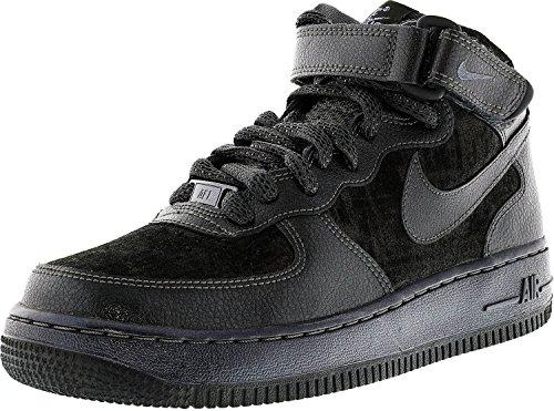 Nike W Air Force 1 '07 Mid PRM, Women's Trainers Black (Mtlc Hematite / Mtlc Hematite)
