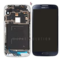 ePartSolution-Samsung Galaxy S4 i337 M919 LCD Touch Digitizer Screen Assembly With Frame Blue Replacement Part USA Seller