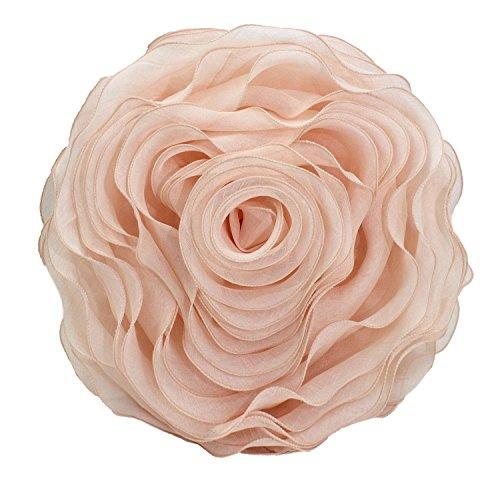 ful Handmade 3D Rose with Custom Made Fabric Decorative Throw Pillow 16