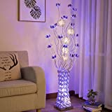 $Floor lights LED Floor Lamp, Rural Decoration Personality Vase Simple Modern Living Room Bedroom Floor Light ( Edition : Foot switch )