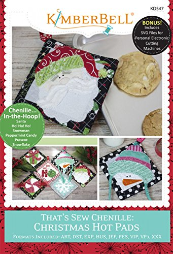 KIMBERBELL That's Sew Chenille CHRISTMAS Hot Pads Machine Embroidery CD KD547 (Christmas Machine)