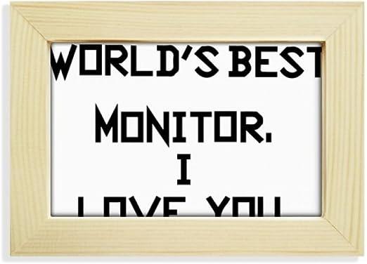Amazon Com Diythinker World Best Monitor I Love You Desktop
