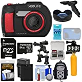 SeaLife DC2000 HD Underwater Digital Camera with Wide Angle Lens + 64GB Card + Backpack + Video Light + Buoy Handle + Battery + Kit