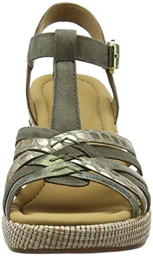 Con Verde oliv Alla Cinturino Ba Gabor Sandali Comfort Caviglia st Donna Sport qwtOpORU